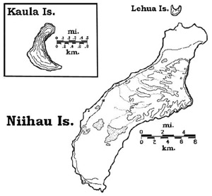 Map of Ni�ihau.