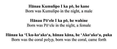 Beckwith Kumulipo Translation